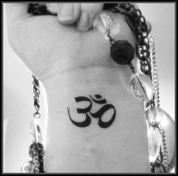 Symbol Om Tatuaż Fake Tatuaż Tymczasowy Tatuaże