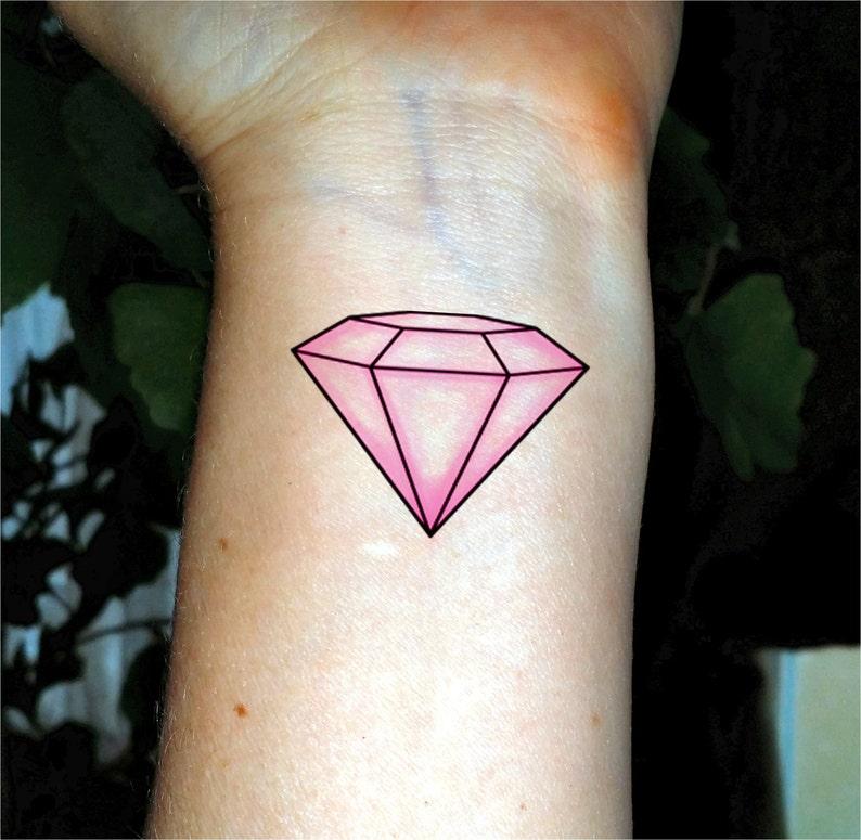 Bachelorette tattoo pink diamond tattoo Bachelorette party  7e3038dd80a