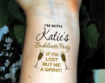 Bachelorette tattoos Bachelorette party tattoos temporary tattoos fake tattoos custom tattoo
