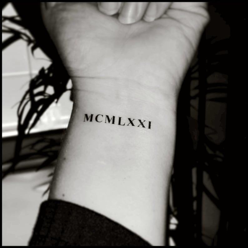 Roman numeral tattoos custom tattoos temporary tattoos fake | Etsy