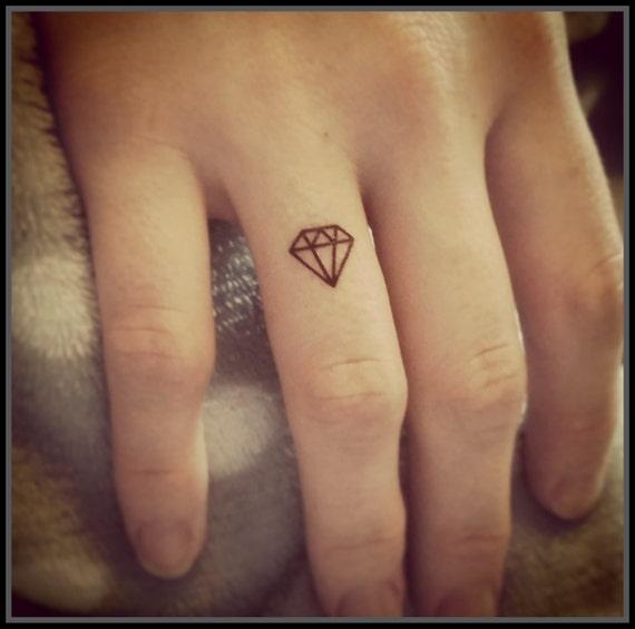 Tiny Tatuaże Tatuaże Diamond Zestaw 20 Fałszywych Tatuaży Tymczasowy Tatuaże Tiny Diamond Tats