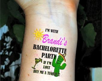 Bachelorette tattoos Bachelorette party tattoos temporary tattoos fake tattoos