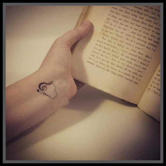 Music notes temporary tattoos I love music tattoo music | Etsy