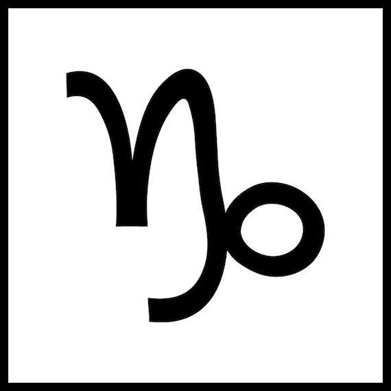 Zodiac Tattoo Capricorn Temporary Tattoo Fake Tattoo Birth Month Tattoo Horoscope Tattoo