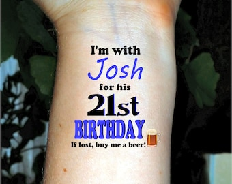 Birthday tattoos temporary tattoos fake tattoos 21st birthday happy birthday tattoos custom tattoo personalized tattoos