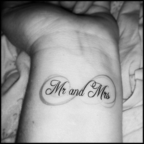Nieskończoność ślub Tatuaże Tatuaże Rocznica Nowo środa Tatuaże Małżeństwo Tatuaże Tymczasowy Tatuaż Fake Tattoo