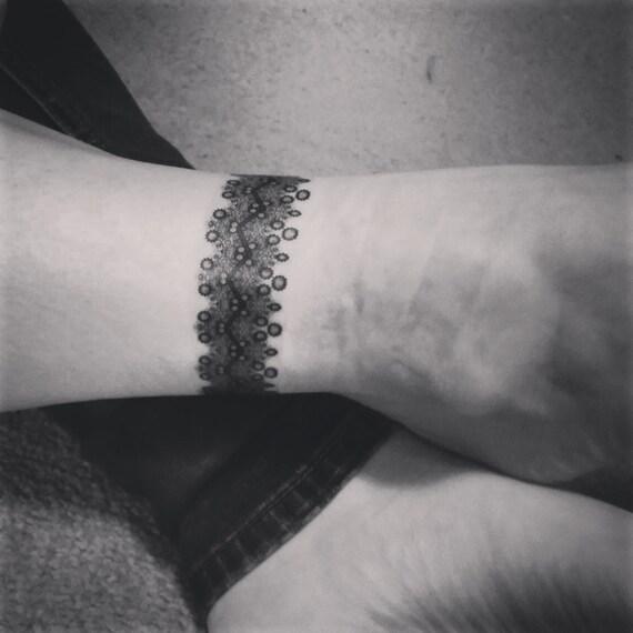 Tymczasowy Tatuaże Zawijać Wokół Tatuaże Koronki Tatuaże Kostki Tatuaż Nadgarstka Tatuaż Opaska Na Ramię Tatuaż