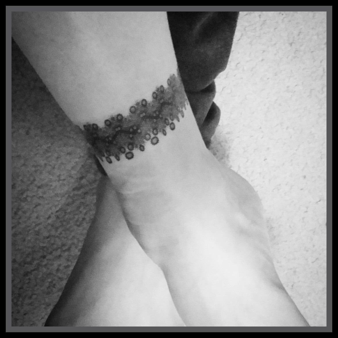 Temporary Tattoos Wrap Around Tattoos Lace Tattoos Ankle Etsy