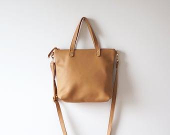 Camel Mini Day Bag / camel bag / Tan Bag / Crossbody Bag / Mini Tote / Casual Bag / Everyday Bag / Mini Tote