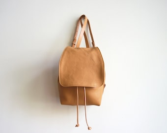 Tan/Camel Leather Backpack