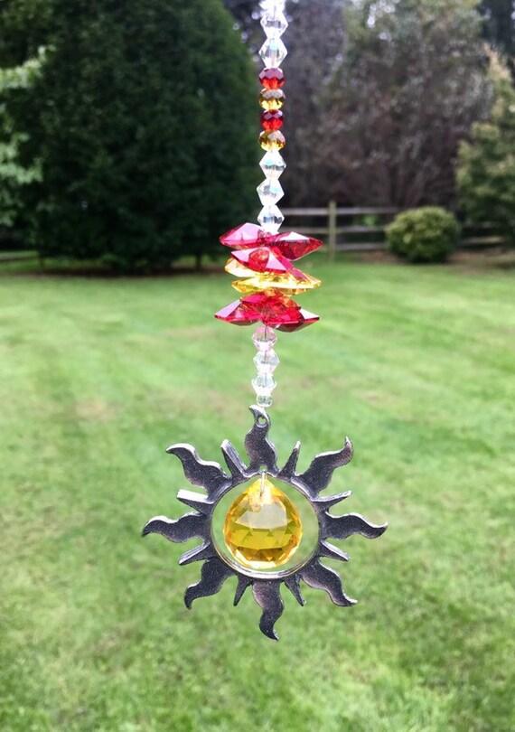 Swarovski Crystal Rear View Mirror Car Charm,Dragonfly Sun Catcher,Crystal Window Ornament,Car Sun Catcher,Hanging Sunburst