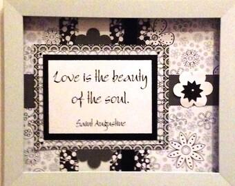 Framed love quote - desktop inspiration