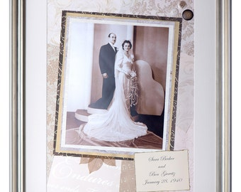 Framed milestone wedding gift -  keepsake collage for 25th anniversary, 50th anniversary, or other milestone anniversary
