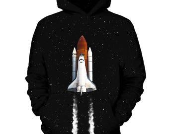 Space Ship Galaxy Hoodie   Rave, EDM, Festival Hoodie
