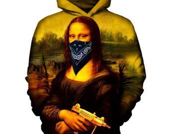 Mona Lisa Hoodie   Rave, EDM, Festival Hoodie