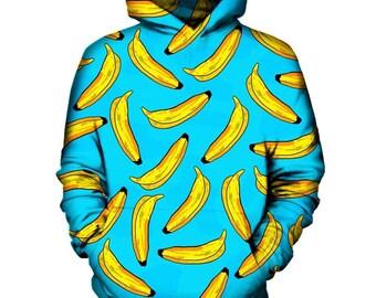 Banana Pattern Hoodie   Rave, EDM, Festival Hoodie