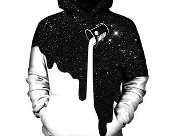 White Galaxy Hoodie   Rave, EDM, Festival Hoodie