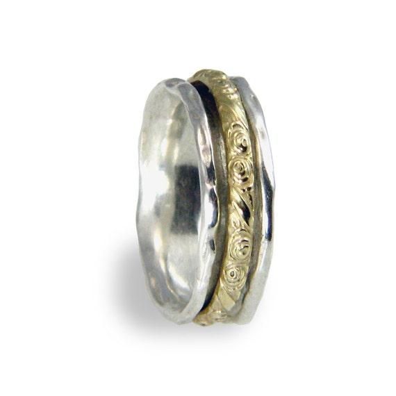 Drehen Hochzeit Ring Silber Gold Hochzeit Band Rosen Hochzeit Ring Drehbaren Goldring Alternative Ehering Fur Manner Und Frauen