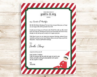 editable elf goodbye letter for christmas includes goodbye letter for boy and girl elf personalized farewell letter instant download