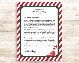 editable elf welcome letter for christmas includes welcome letter for new and returning elves boy and girl elf instant download