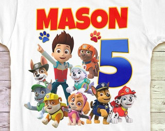 Paw Patrol Birthday Shirt Family Tshirt Matching Shirts Mommy Party Daddy