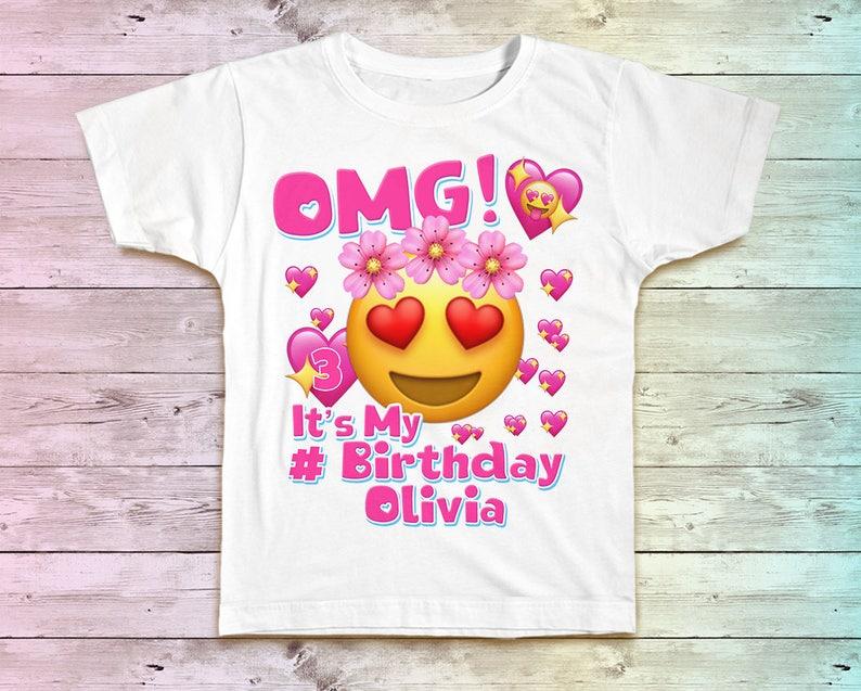 Emoji Birthday Shirt Family Tshirt Matching