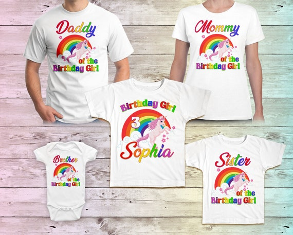 Unicorn Birthday Shirt Rainbow Tshirt