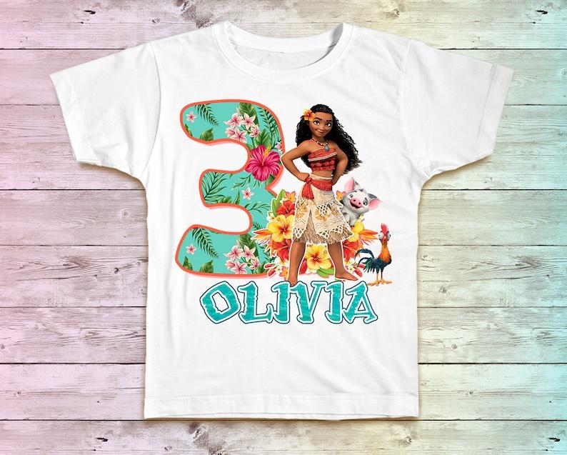 Moana Birthday Shirt Moana Maui Family Birthday Tshirt image 0