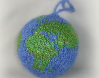 Knitted ball Planet Earth Globe World Earth Amigurumi Friendship gift Map Travel  Earth Ball Collection Xmas gift Coworker gift Teacher gift