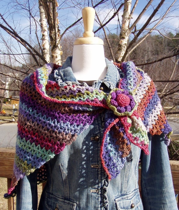 Simplicity Shawl Crochet Pattern Detailed Instructions To Etsy