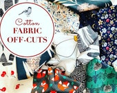 FABRIC OFF CUTS, 300g, Fabric Bundle, Assorted Prints, Cheap Fabric Scraps, Patchwork Fabric, Quilters Squares, Charm Squares,Fabric Remnant