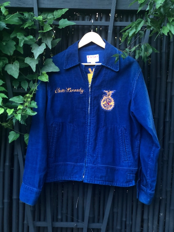 Vintage Texas FFA Blue Corduroy Patch Jacket Men's