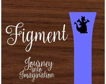Figment - Journey Into Imagination - Personalized - Walt Disney World -  Magic Band Decals - fits 1.0 and 2.0