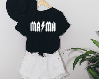 Donna Rockstar Mom Funny Hard Rock Music Mommy Mothers Day Gifts Maglietta