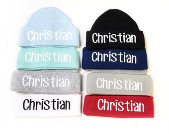 56681578e0f newborn boy hat personalized newborn boy hat personalized baby hat  personalized baby boy hat newborn boy gift newborn boy stocking stuffer