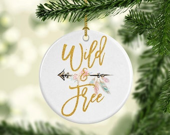 boho christmas ornament girls christmas ornament wild and free christmas ornament boho christmas decor christmas ornament boho decoration - Boho Christmas Decor