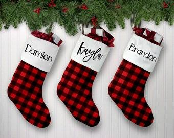 christmas stocking kids christmas stockings boys christmas stocking family christmas stocking personalized christmas buffalo plaid