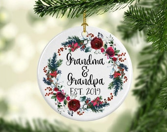 grandparents ornament new grandparents ornament christmas pregnancy announcement gift for new grandparents grandparent christmas ornament