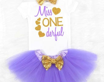 purple and gold first birthday outfit girls first birthday outfit lavender and gold first birthday outfit 1st birthday outfit girls tutu