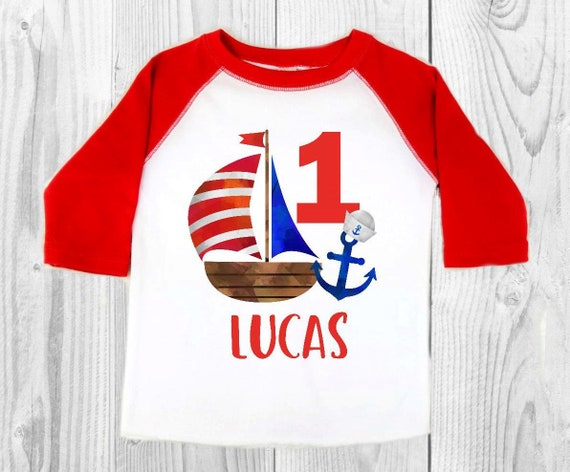 Nautical First Birthday Outfit Shirt
