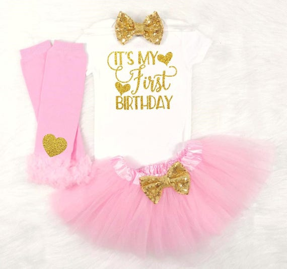 Its My First Birthday Babys Outfit Baby Girls