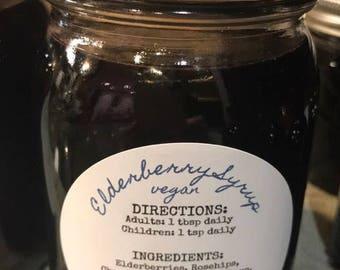 Organic Vegan Elderberry Syrup - 16 oz.