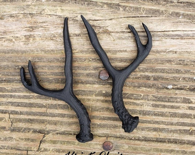 Black Antler Pair, Faux Antlers, Set, Mini Antlers, Taxidermy, Craft