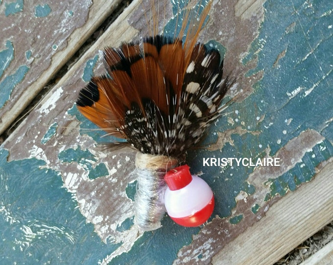 Baby Fishing Boutonniere, Ring Bearer, Flower Girl