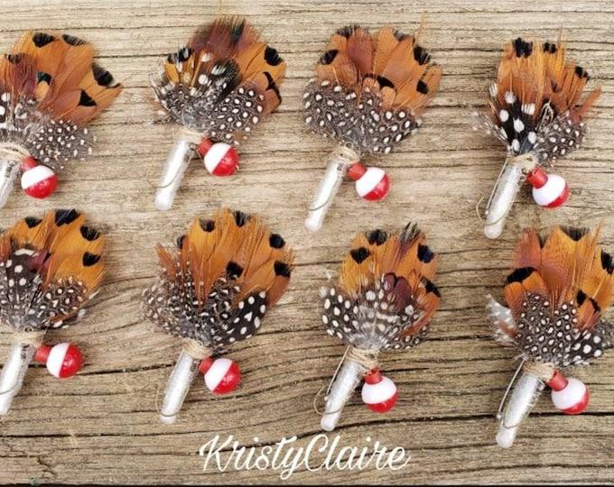 Fishing Boutonniere, Buttonhole, Lapel, Pin-on, corsage