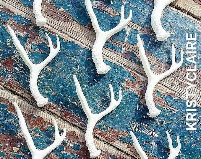Mini Antler, 1 Faux, Handmade, 1 Small Antler, Deer, Taxidermy, White, Cream, Black, Gold, Copper, Silver, Red, Purple, Orange, Pink, Blue
