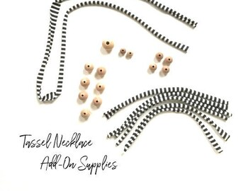 Wood Beads and Jersey Yarn Add-on Supplies