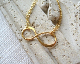 Gold Infinity Necklace Dainty Infinity Necklace Infinity Charm Everyday Necklace Delicate Infinity Gold Delicate Necklace Infinity Pendent
