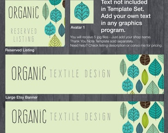 Etsy Banner and Store Branding DIY Template - #1881