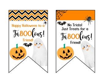 Halloween Treat Tags, Candy Tags, Classroom, Preschool, School Treat tags, Halloween Party, Halloween Classroom Tags, Boo basket, Kid's